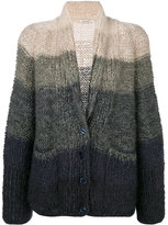 Mes Demoiselles chunky knit striped cardigan