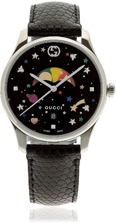 Gucci G-Timeless Watch W/ Lizard Band