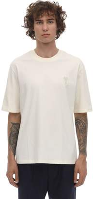 Ami Alexandre Mattiussi LOGO PATCH COTTON JERSEY T-SHIRT