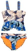 Maaji Girl's Florencia Midnight Two-Piece Reversible Swimsuit