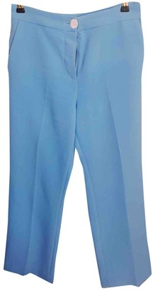 2nd Day Blue Cotton Trousers for Women