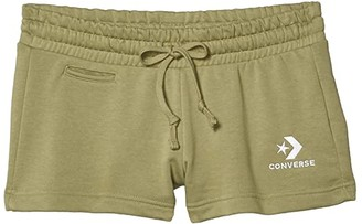 Converse Star Chevron French Terry Embroidered Shorts (Street Sage) Women's Shorts
