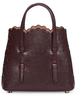 Alaia Medium Mina Perforated Leather Tote
