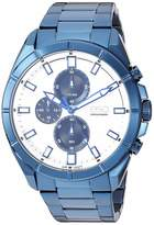 ESQ Men's Blue IP Stainless Steel Chronograph Bracelet Watch FE/0135