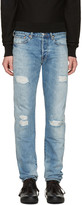 Paul Smith Blue Ripped Slim Jeans