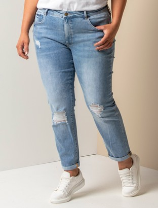 Forever New Lindsay Curve Girlfriend Jeans - Ipanema Blue - 16