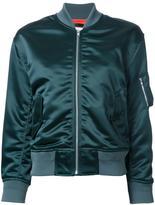 EN ROUTE ruched detail bomber jacket