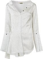 Hellessy - Bessette II asymmetric flounce shirt - women - Silk/Spandex/Elastane - 2