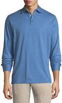 Peter Millar Cotton-Blend Long-Sleeve Polo Shirt