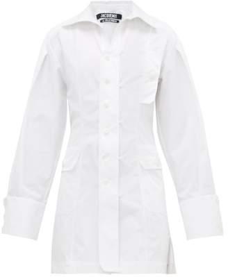 Jacquemus Roman Cotton Shirtdress - Womens - White