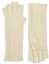 Women's Halogen Rib Knit Fingerless Gloves