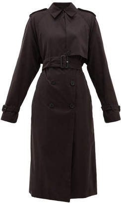 The Row Triana Belted Brushed-twill Trench Coat - Black