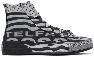 Telfar Black and White Converse Edition Chuck 70 High Sneakers