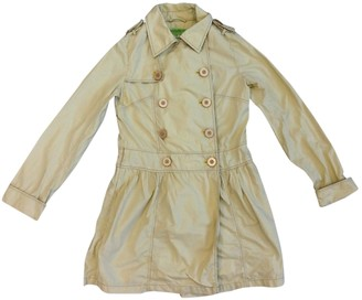 Free People Beige Cotton Trench coats