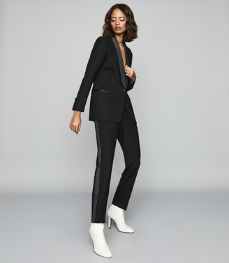 Reiss Ally Jacket - Shawl Collar Blazer in Black