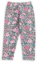 Capelli New York Girls Leopard Floral Leggings