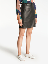 Nümph Chenet Leather Skirt, Caviar