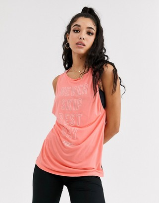 Reebok Training Supply Graphic Muscle Tank Top-Pink