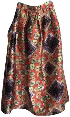 Lm Lulu Orange Skirt for Women