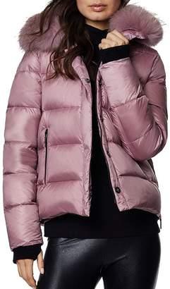 Dawn Levy Vera Fur-Trim Short Puffer Coat