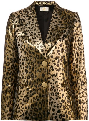 Sara Battaglia Leopard Blazer