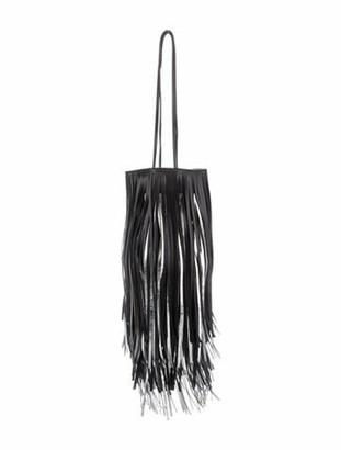 Calvin Klein Fringe Leather Crossbody Bag Black Fringe Leather Crossbody Bag
