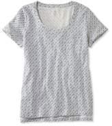 L.L. Bean Linen/Cotton One Pocket Tee, Print