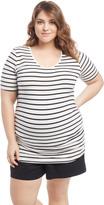 Motherhood Plus Size Side Ruched Maternity T Shirt