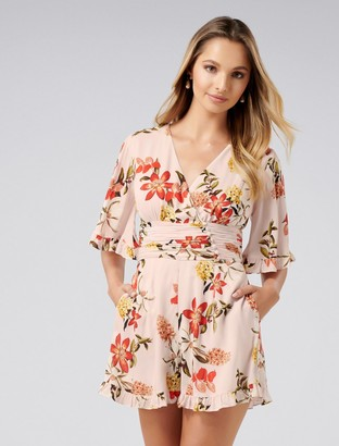 Forever New Fern Flutter Sleeve Playsuit - Tropical Blooms - 4