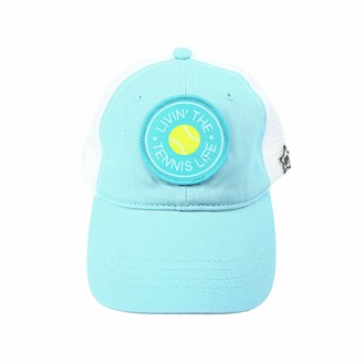 Pavilion Gift Company Livin' The Tennis Life-Blue Unisex Adjustable Snapback Mesh Baseball Hat