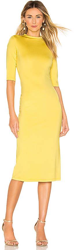 Alice + Olivia Delora Fitted Mock Neck Dress