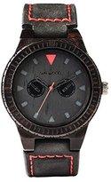 WeWood watch Wood / wood multi-function LEO TERRA BLACK 9818094 Men's [regular imported goods]