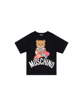 Moschino Skateboarder Teddy Bear Maxi T-shirt Unisex Black Size 4a It - (4y Us)