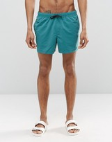 Asos Swim Shorts In Teal Short Length