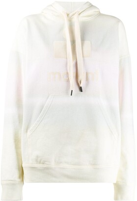 Etoile Isabel Marant faded effect logo print hoodie