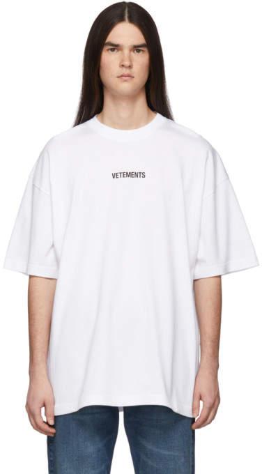 Vetements White Logo T-Shirt