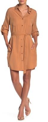 Velvet Heart Anita Stripe Waist Tie Shirt Dress