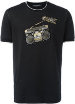 Dolce & Gabbana music crew neck T-shirt - men - Cotton/glass/Crystal/Silk - 46