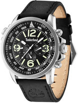Timberland Men's Camptom Black Leather Strap Watch 46x53mm TBL13910JS02