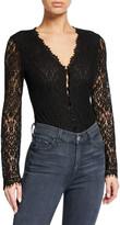 Jonathan Simkhai Long-Sleeve Lace Bodysuit