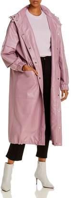 ÁERON Delilah Faux Leather Long Jacket