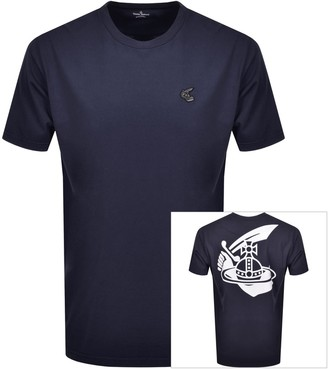 Vivienne Westwood Small Orb Boxy T Shirt Navy