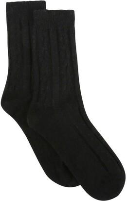 Levante Nina Wool Blend Cable Crew Sock