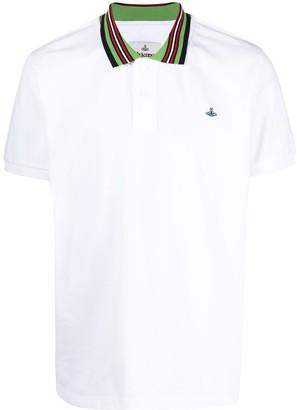 Vivienne Westwood Stripe-Collar Polo Shirt
