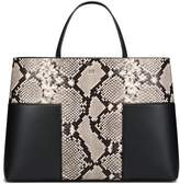 Tory Burch BLOCK-T EMBOSSED TRIPLE-COMPARTMENT TOTE