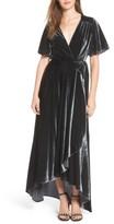Privacy Please Women's Velvet Wrap Maxi Dress