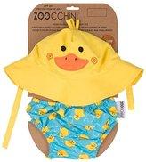 Zoocchini Swim Diaper and Sun Hat Set Duck- 6-12m