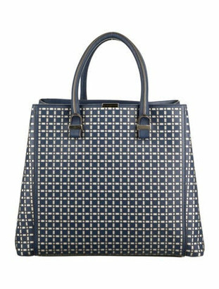 Victoria Beckham Laser Cut Quincy Tote silver