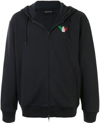Emporio Armani Logo Zipped Hoodie