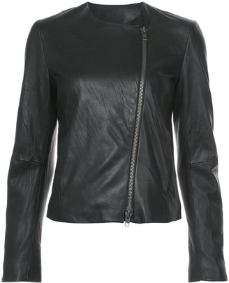Vince Round-Neck Zip Jacket